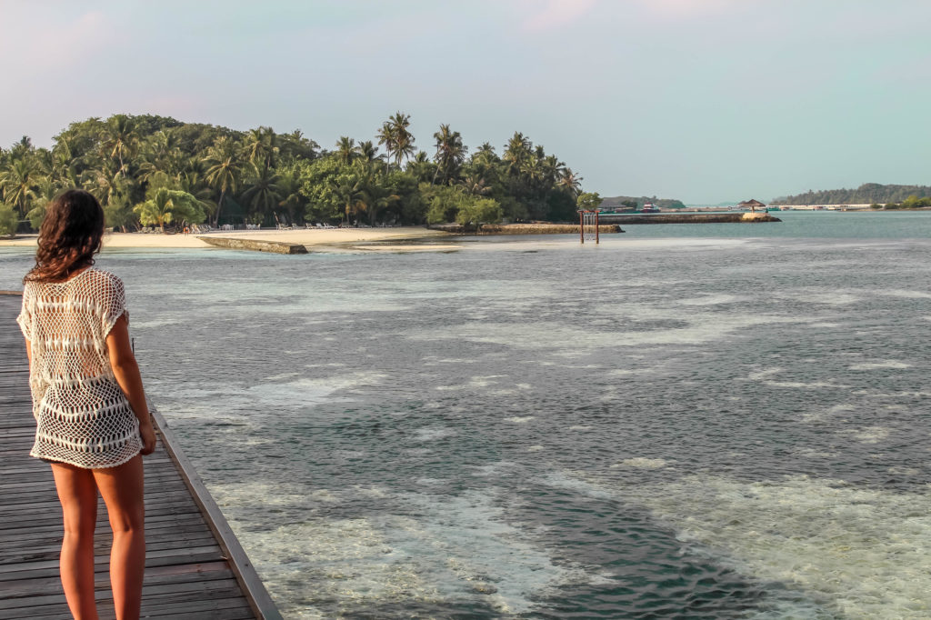 Les maldives, pilotis, North male atoll, hôtel adaaran