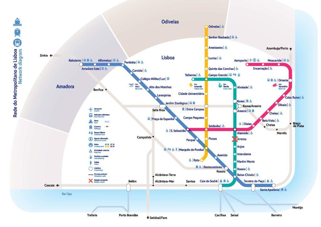 carte-métro-lisbonne
